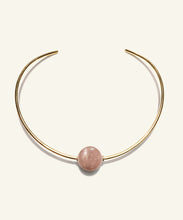 Load image into Gallery viewer, Peach Moonstone Neck Ring