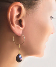 Load image into Gallery viewer, Nixie Pearl Hoops