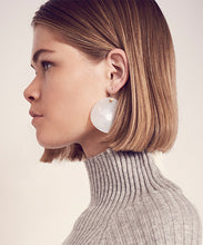 Load image into Gallery viewer, Agate Disk earrings
