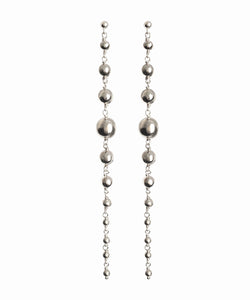Align Silver bauble earrings