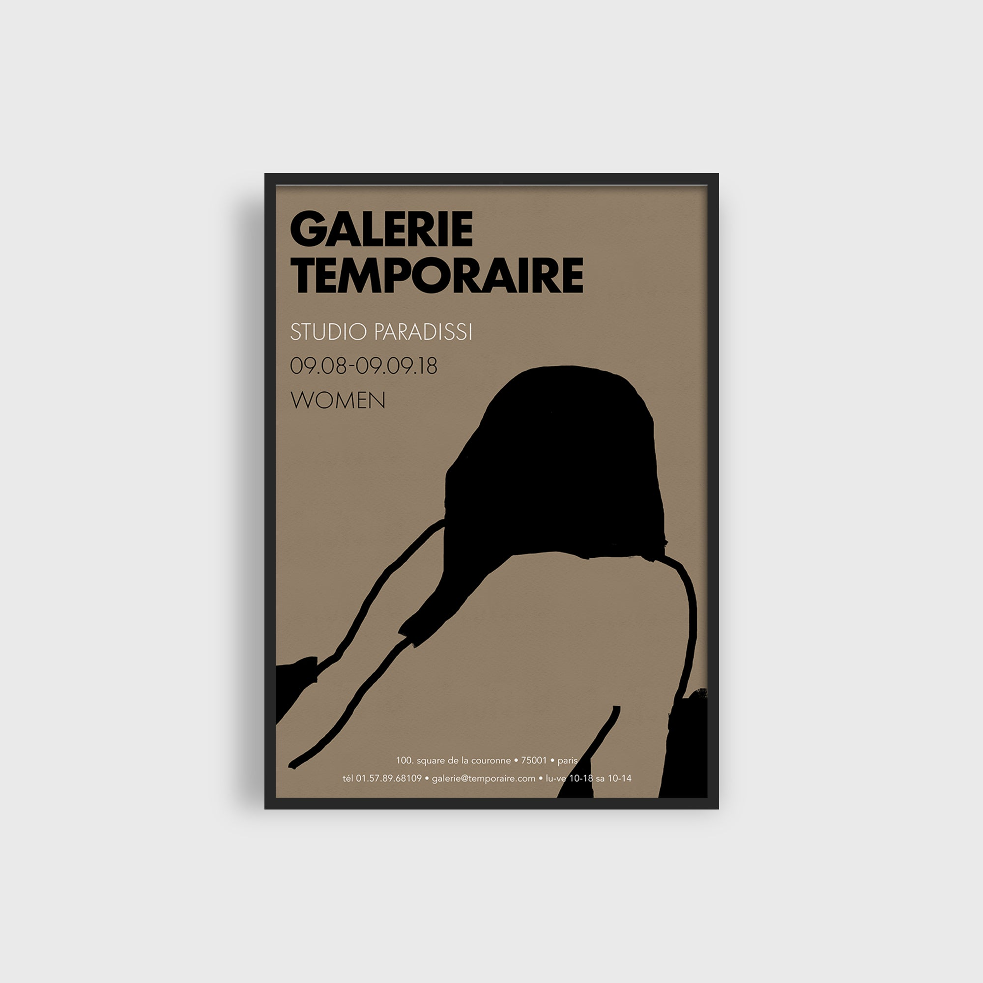 Galerie Temporaire 12 Open Edition Art Print by Eleni Psyllaki of Studio Paradissi