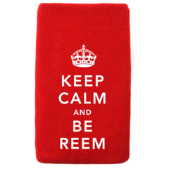 Tech Sock - Keep Calm and Be Reem - Red
