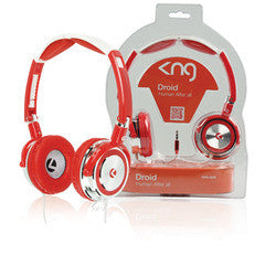 KNG Droid Headphones - Red