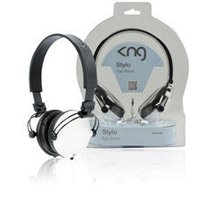 KNG Stylo Ego Boost Headphones - White