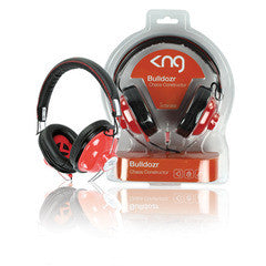 KNG Bulldozer Headphones - Red