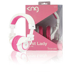 KNG First lady Headphones - White / Pink
