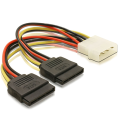 Molex to 2x SATA Power Cables