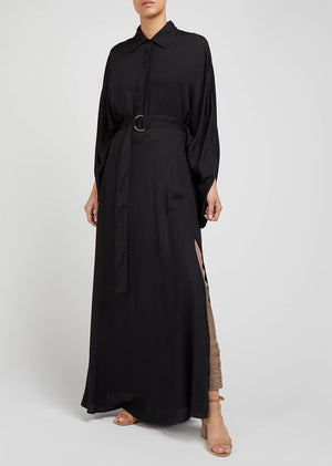 Flared Sleeve Abaya Black