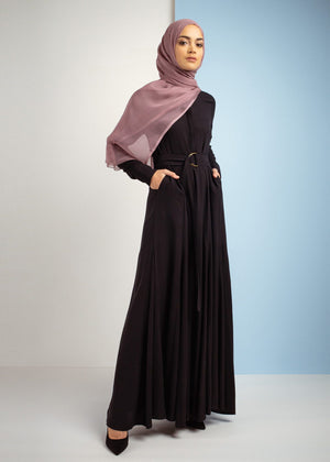 Pleats & Placket Abaya Aab
