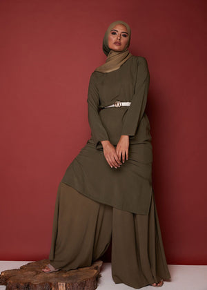 Tunic Top in Khaki by Aab