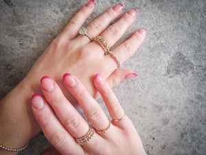 3mm Gold Dainty Darling Ring