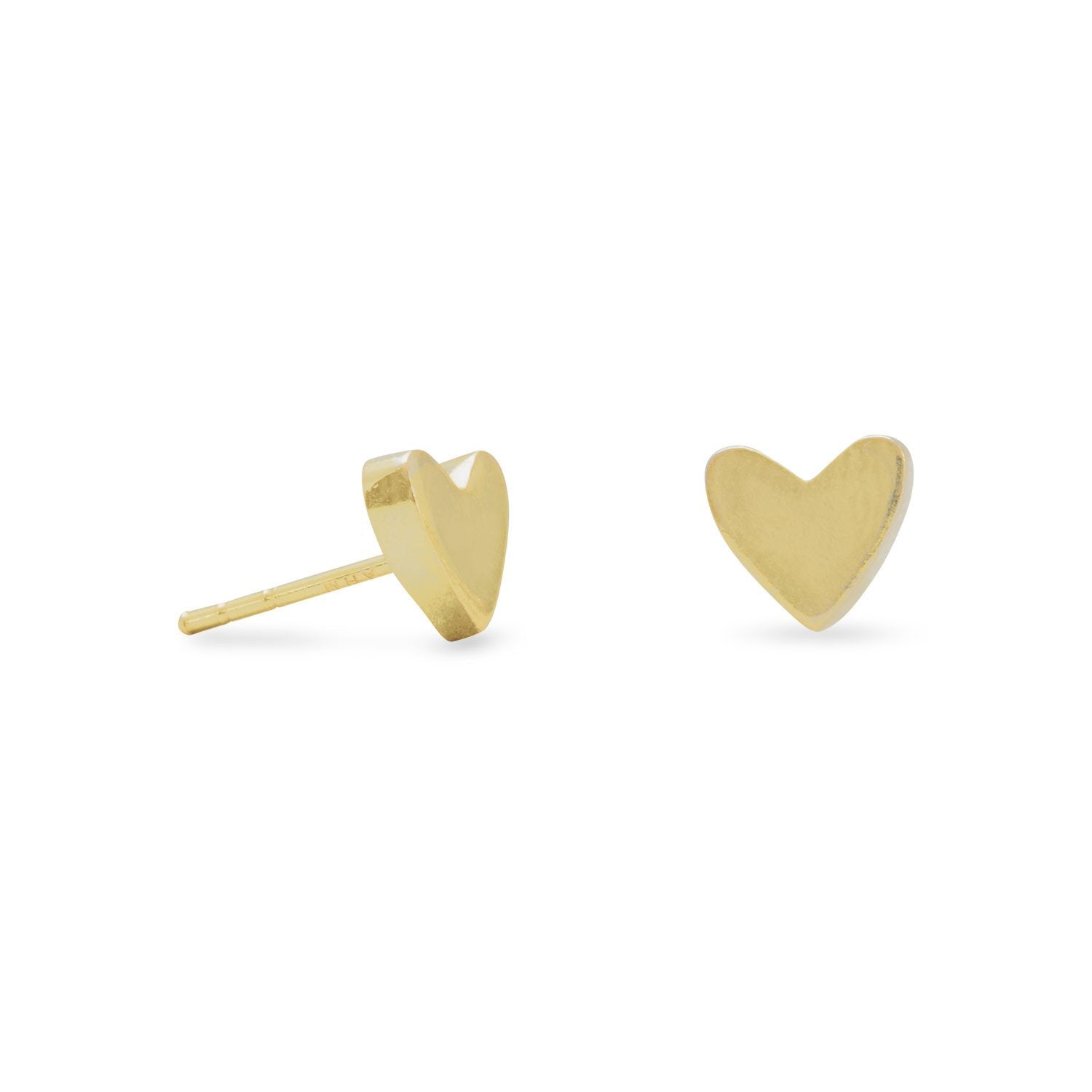 """Heart of Gold"" Heart Stud Earrings"