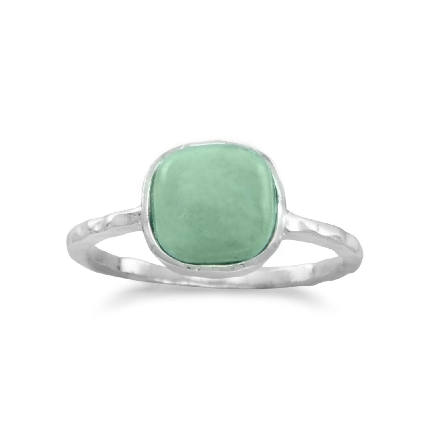 Stabilized Square Turquoise Ring