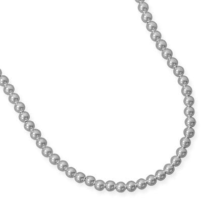 7mm Sterling Silver Bead Strand