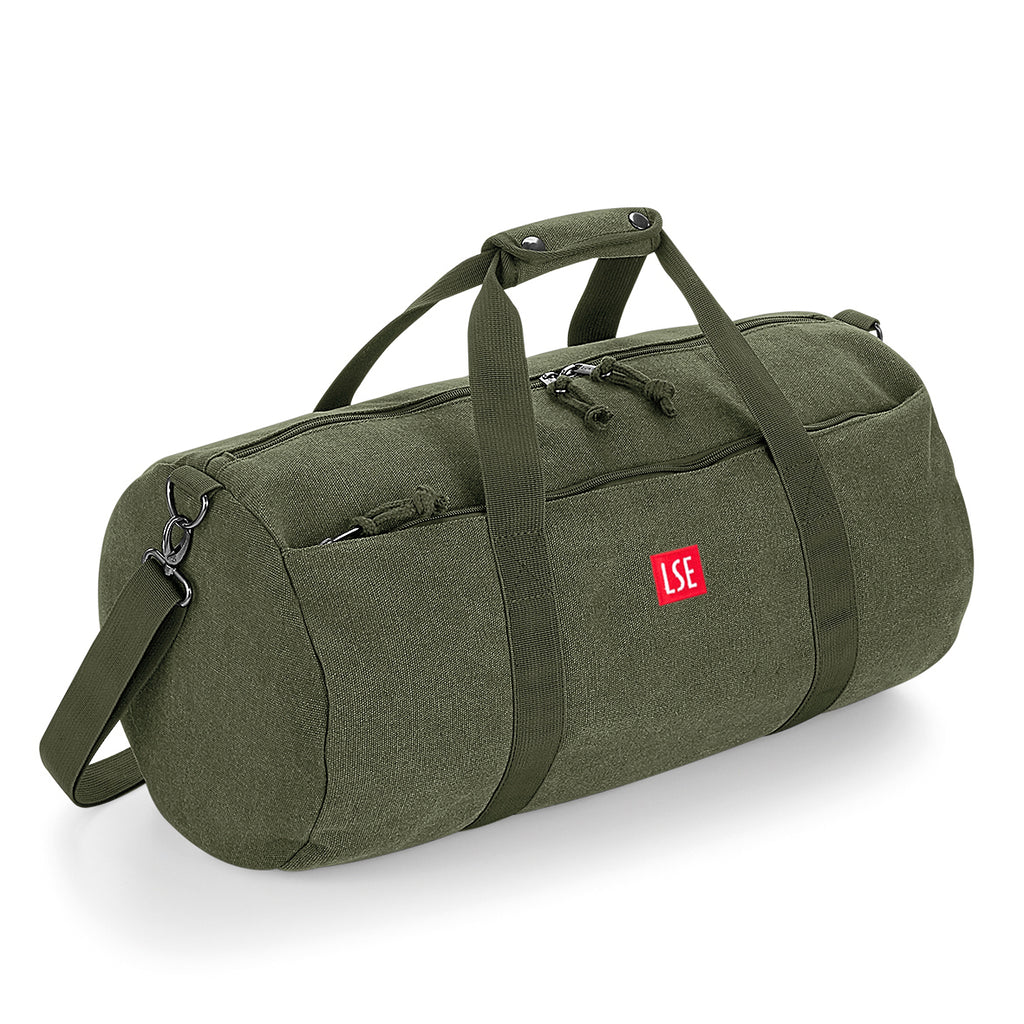 Canvas Barrel Bag - Green