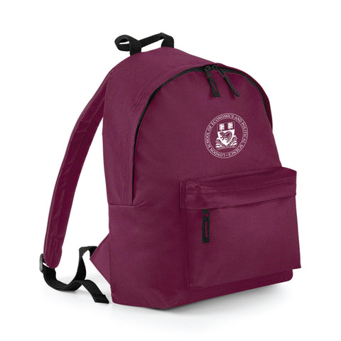 Crest Back Pack Burgundy