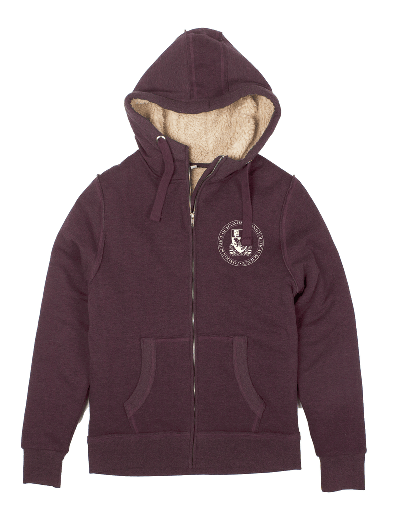 Fair Trade Chunky Zip Hood Burgundy