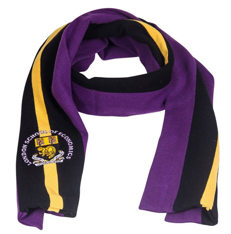 Woolen Scarf with Crest Embroidery