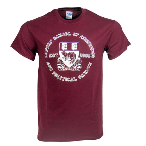 Large Crest T-Shirt Burgundy