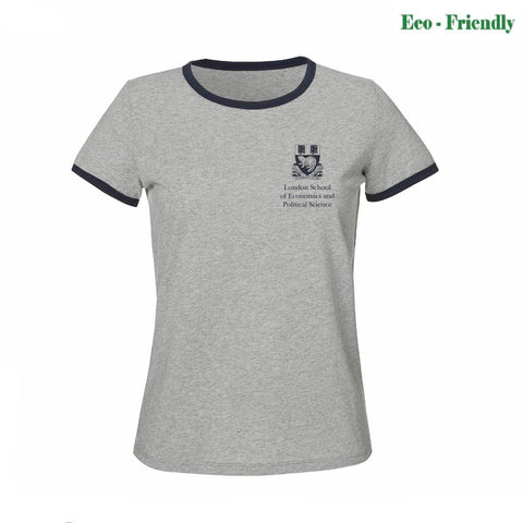 Women's Retro T-Shirt Grey/Navy