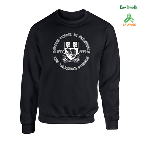 LSE Crest Salvage Sweatshirt Black