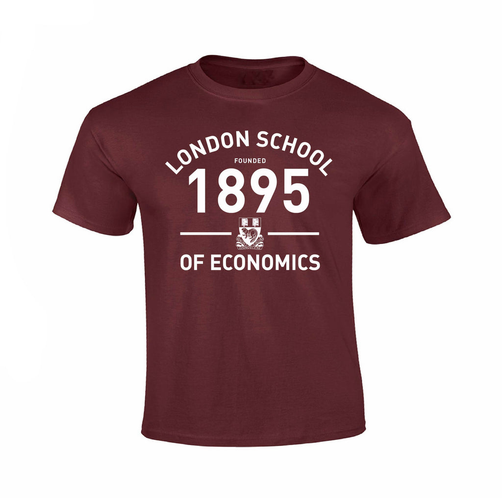 Founded 1895 T-Shirt Burgundy