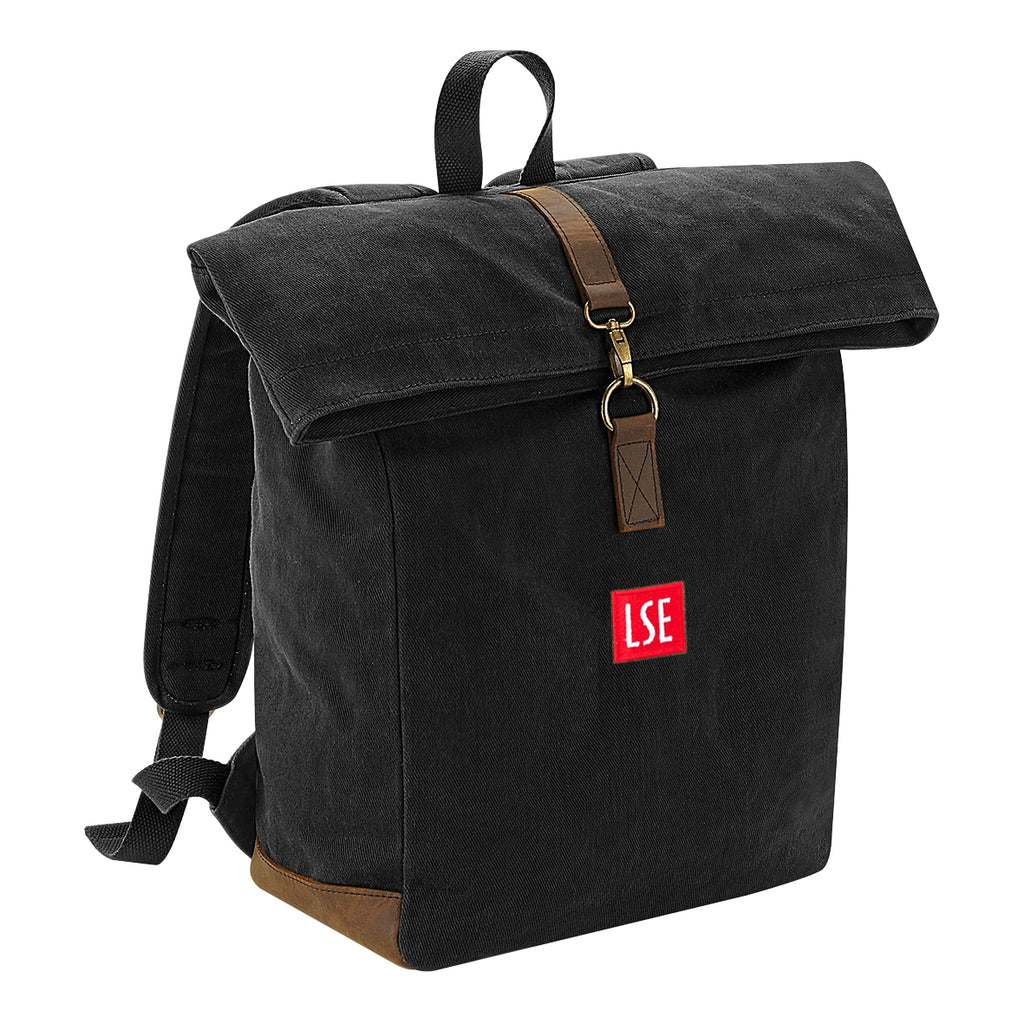 Heritage Waxed Canvas Backpack - Black