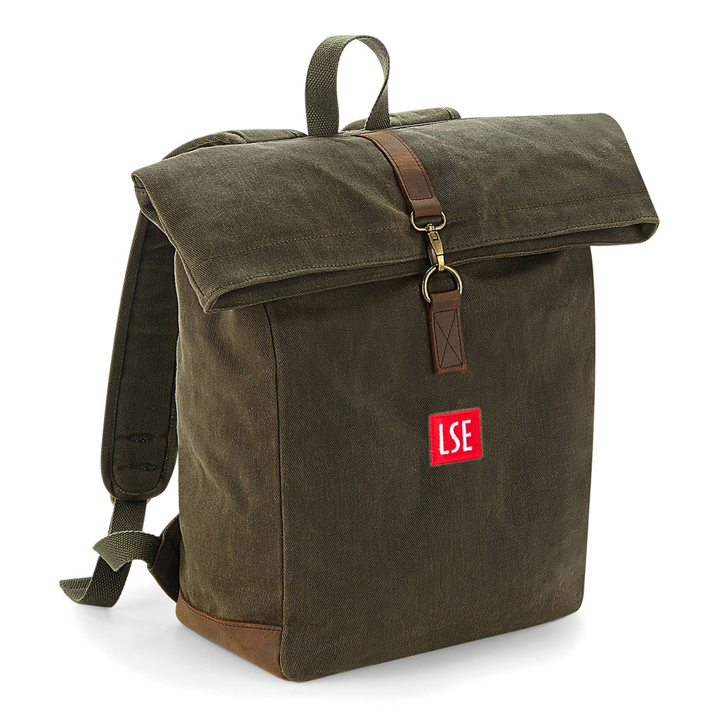 Heritage Waxed Canvas Backpack - Olive