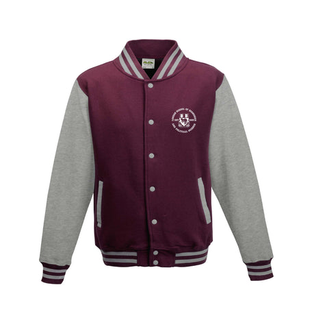 Varsity Jacket Burgundy/Heather