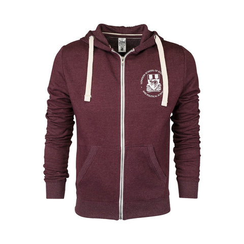 Fair Trade Zipped Hood Burgundy