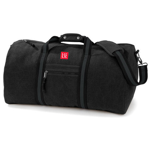 Canvas Holdall Bag - Black