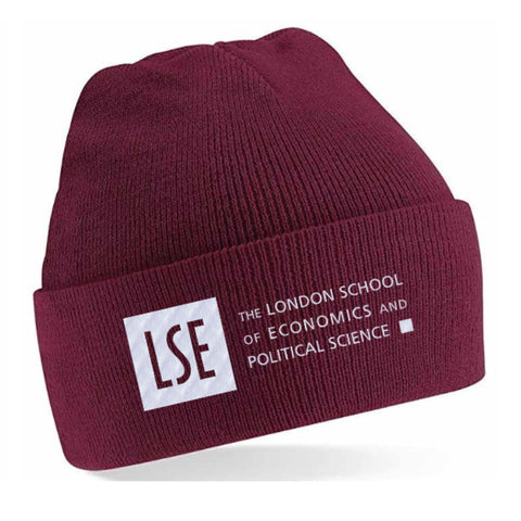 LSE Beanie Hat Burgundy Red