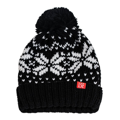 Beanie Fair Isle - Black