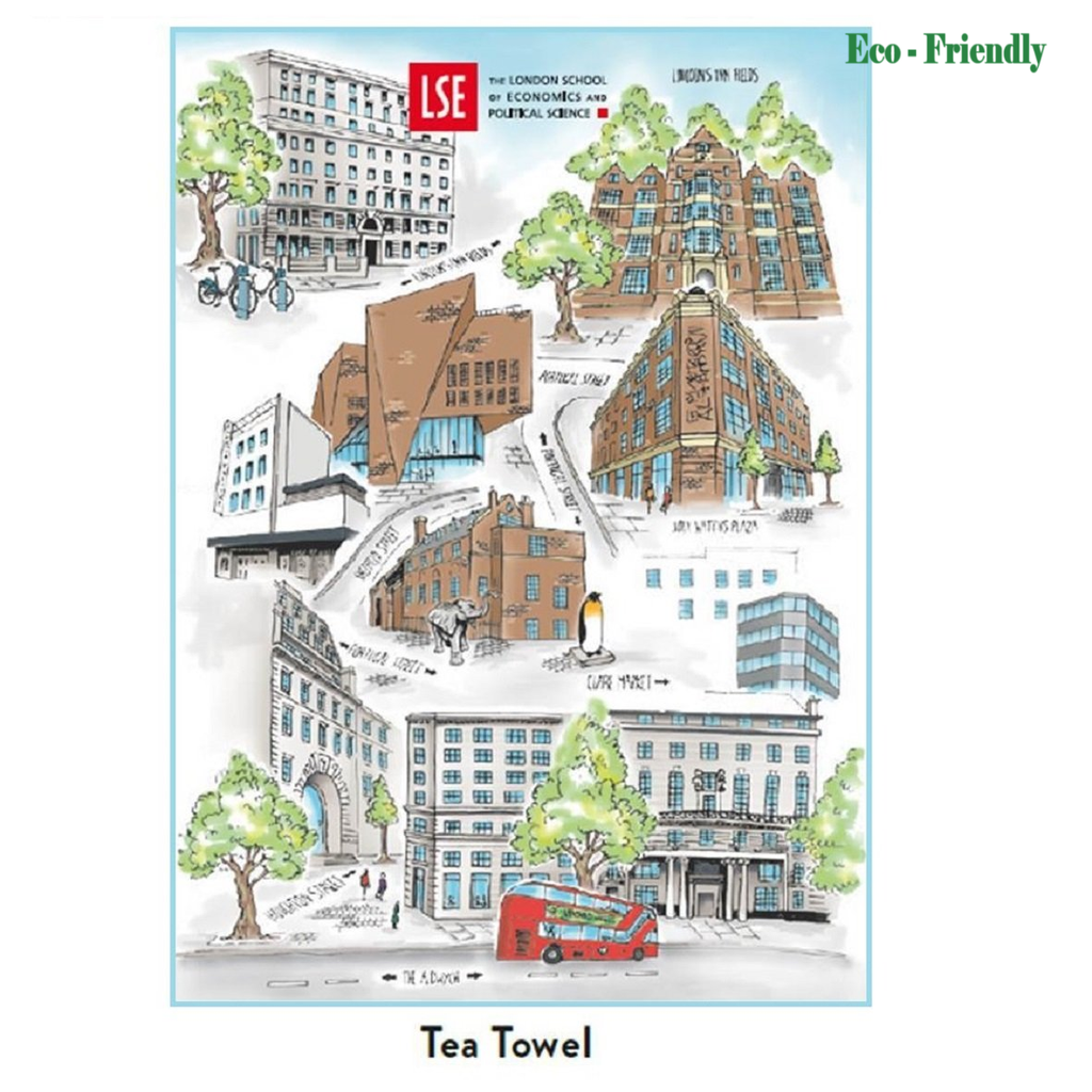 Tea towel LSE map.