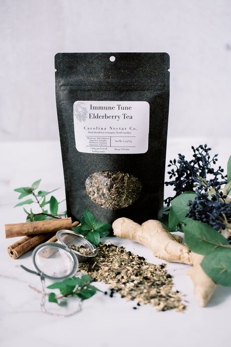 Elderberry herbal tea for immune support