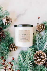 Peppermint + Pine Soy Candle