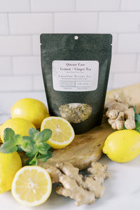 Lemon and Ginger Nausea Tea - Quease Ease