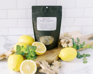 Quease Ease Lemon and Ginger Herbal tea for morning sickness and motion sickness