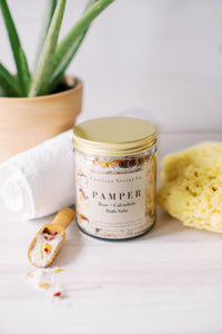 artisan bath salts made in NC for pampering