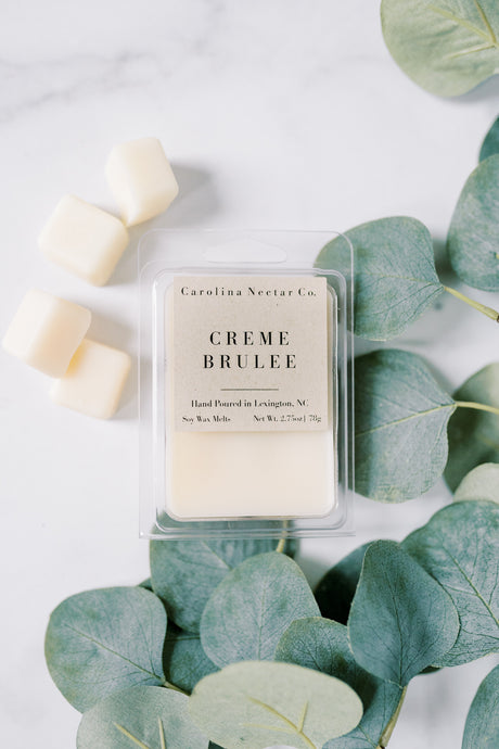 creme brulee scented soy wax melts made in nc