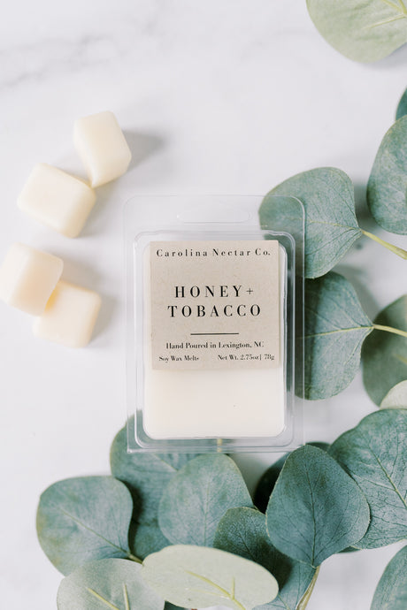 NC candle company honey and tobacco soy wax melts