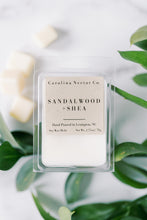 Load image into Gallery viewer, Sandalwood and Shea soy wax melts made by NC candle company