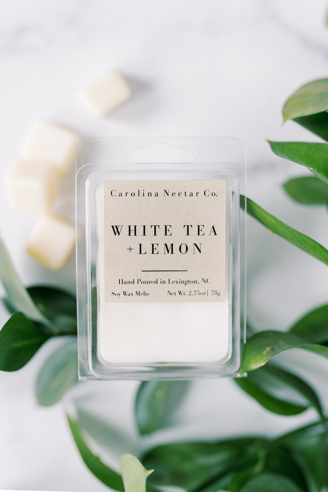 White Tea and Lemon Soy wax melts made in NC