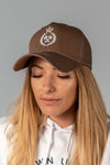 King of the Track Unisex Snapback – Light brown