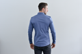 PANTHER Long Sleeve Slim Fit Shirt - Light Blue