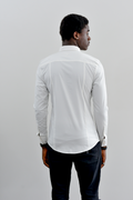 PANTHER Long Sleeve Slim Fit Shirt - White
