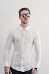 LEO Long Sleeve Slim Fit Shirt - White