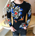KOLMA Floral O-Neck Slim Fit Sweater