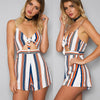 Short Strapped Backless Beach V-Neck Romper Jumpsuit