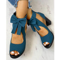 Butterfly Knot Summer Square Heel